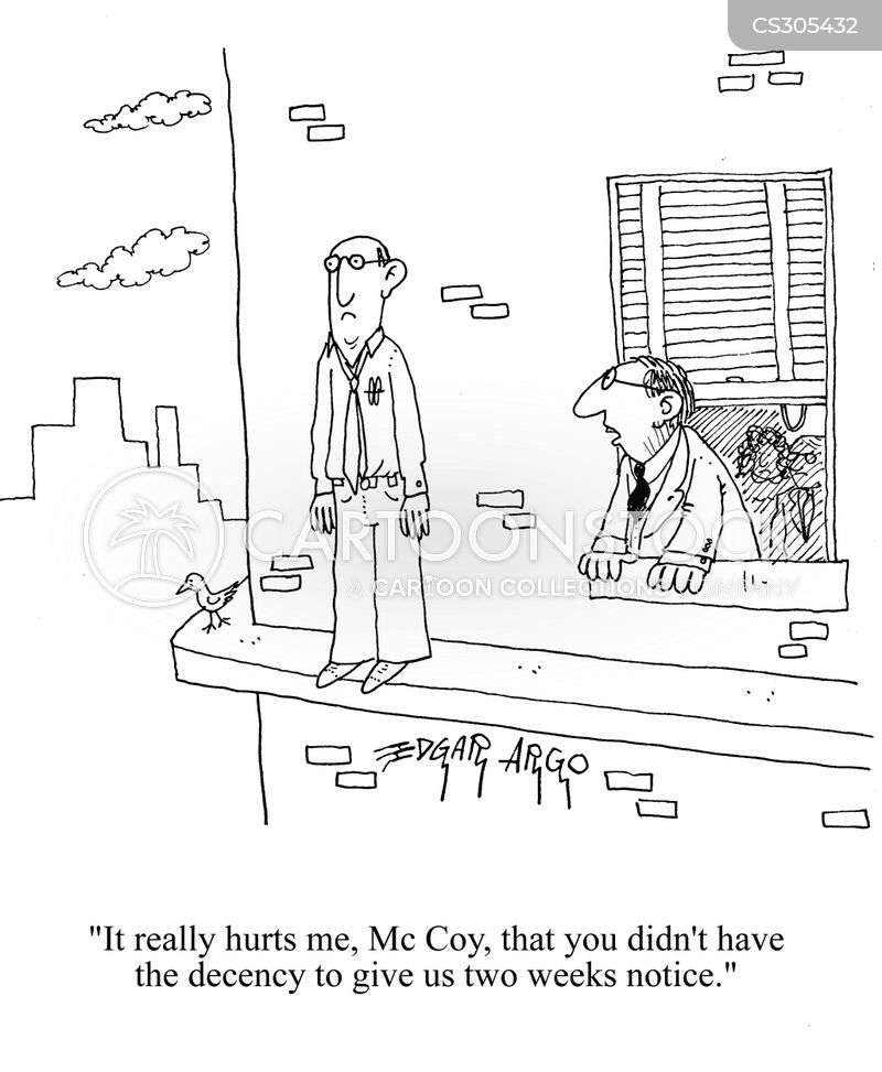 Two Weeks Notice Cartoons and Comics - funny pictures from CartoonStock
