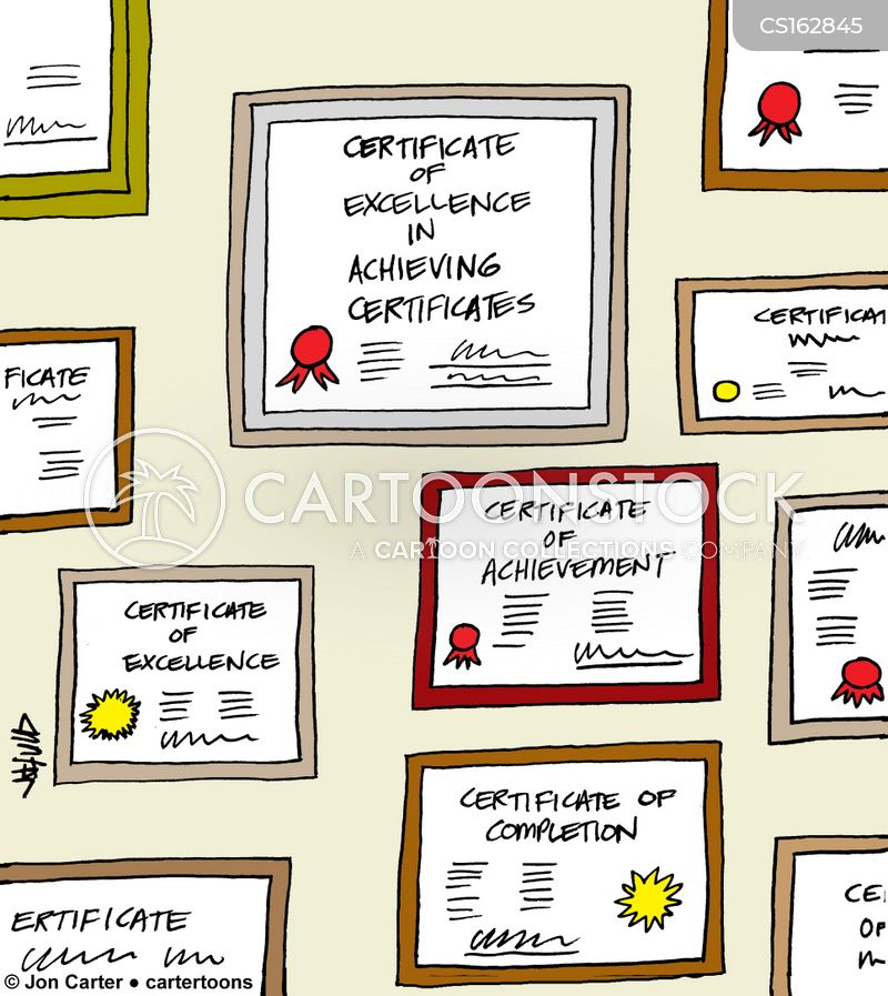 Certificate Of Achievement Cartoons and Comics - funny pictures from