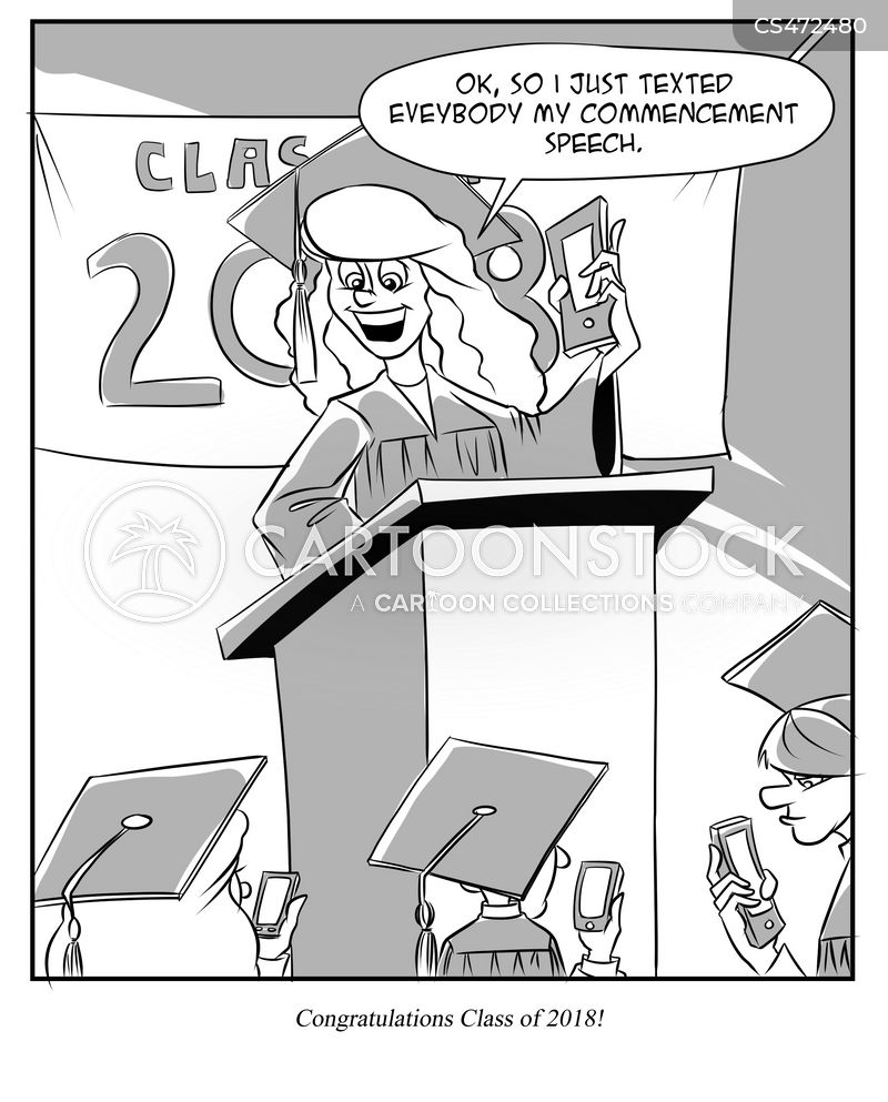 Graduation Speech Cartoons and Comics - funny pictures from CartoonStock