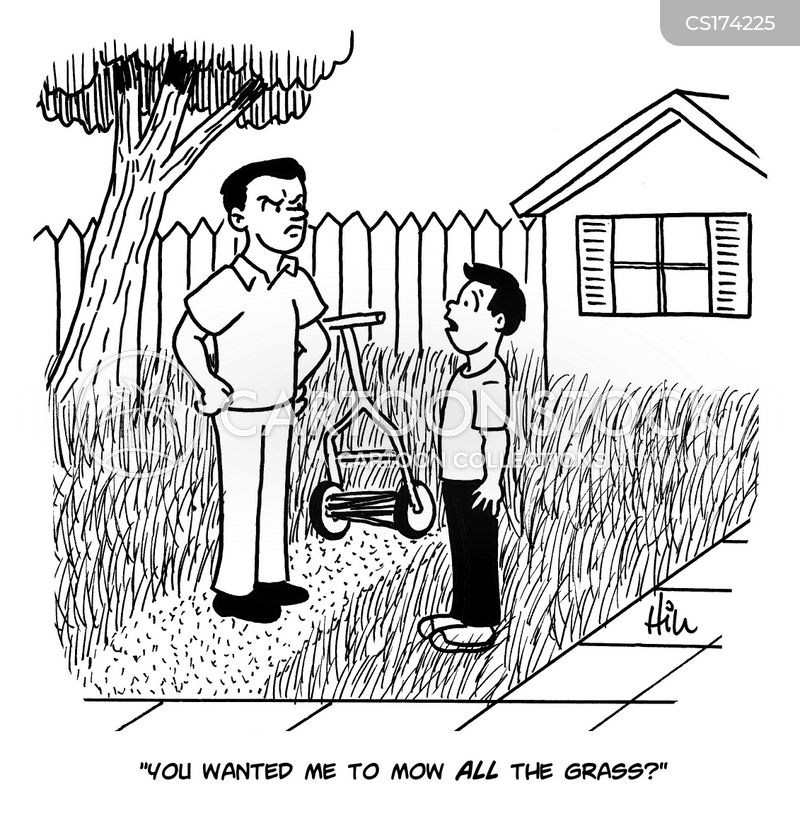 Yard Work Cartoons and Comics - funny pictures from CartoonStock