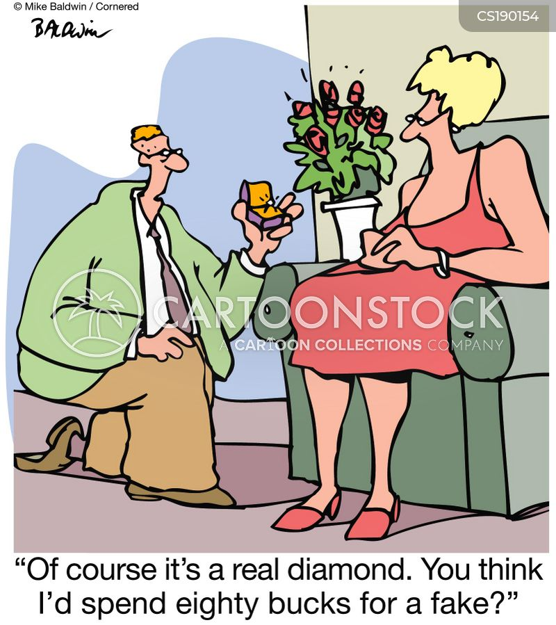 Fake Diamond Cartoons and Comics - funny pictures from CartoonStock