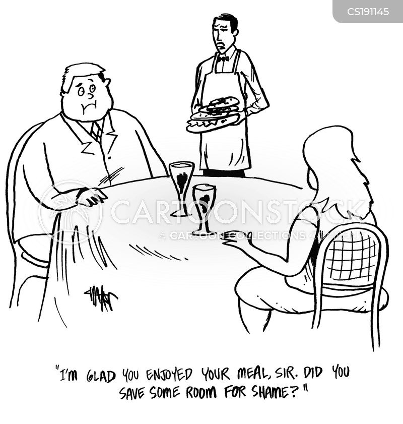 Food Servers Cartoons and Comics - funny pictures from CartoonStock