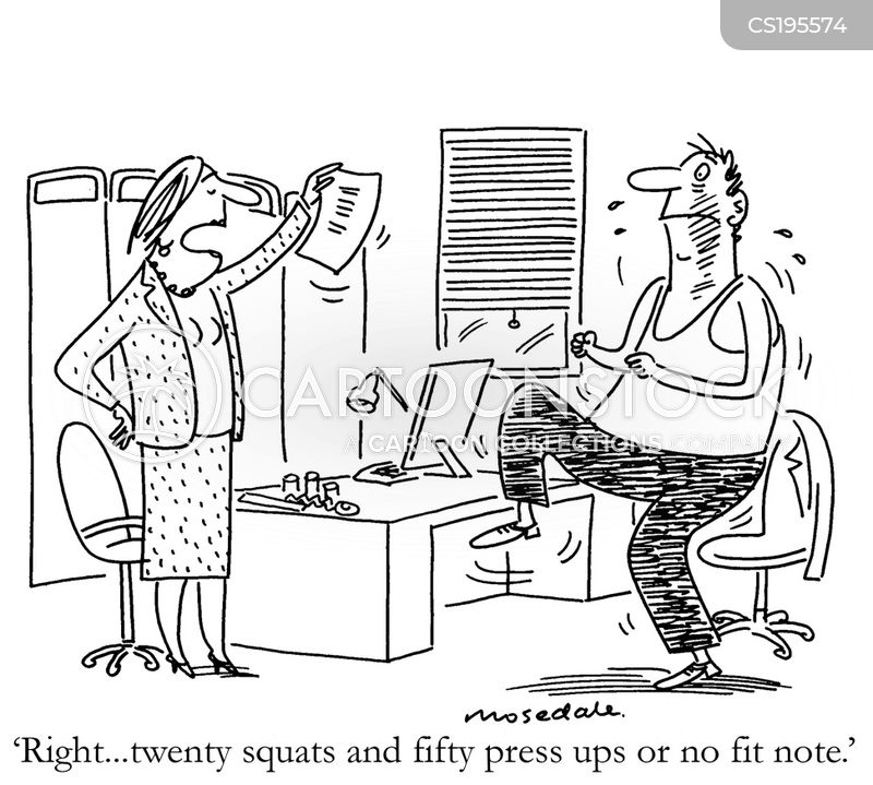 Work Fit Cartoons and Comics - funny pictures from CartoonStock