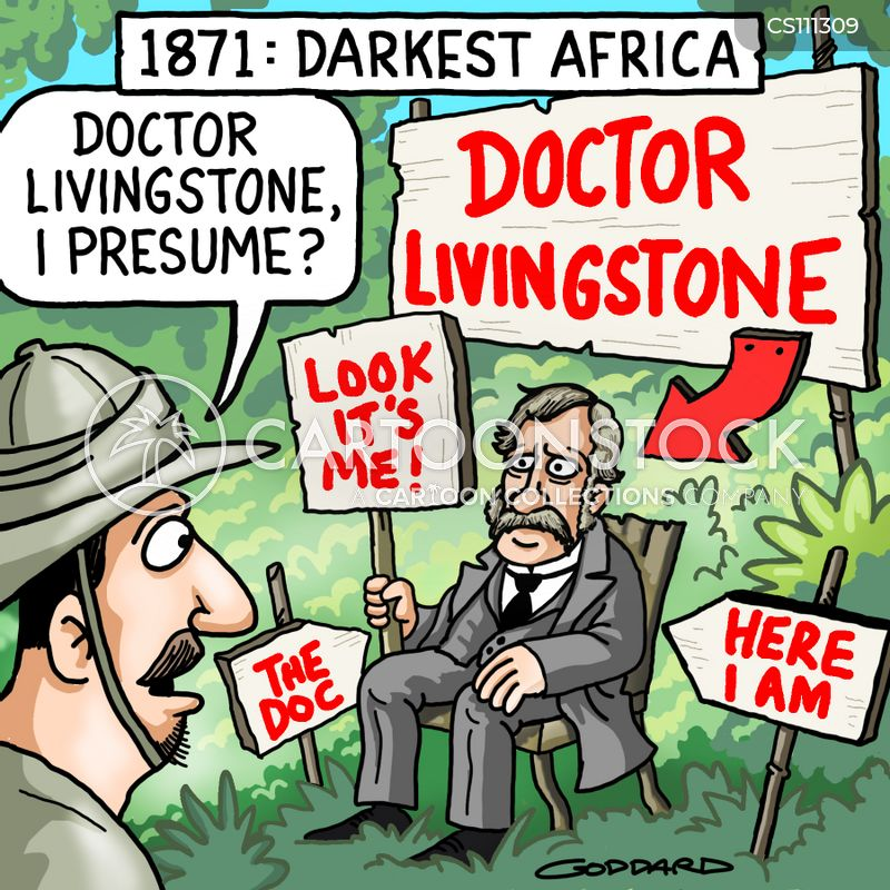 Dr Livingstone Cartoons and Comics - funny pictures from CartoonStock - dr livingstone i presume book