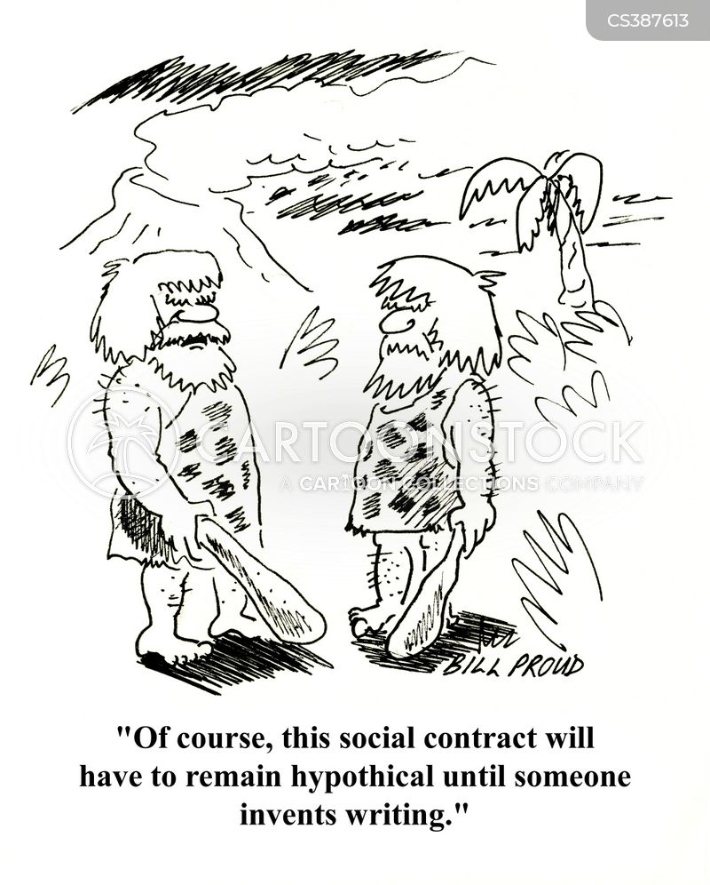 In Writing Cartoons and Comics - funny pictures from CartoonStock - writing contract agreements
