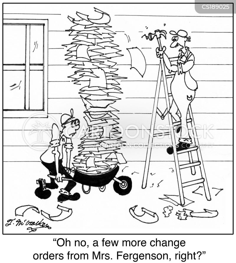 Change Order Cartoons and Comics - funny pictures from CartoonStock