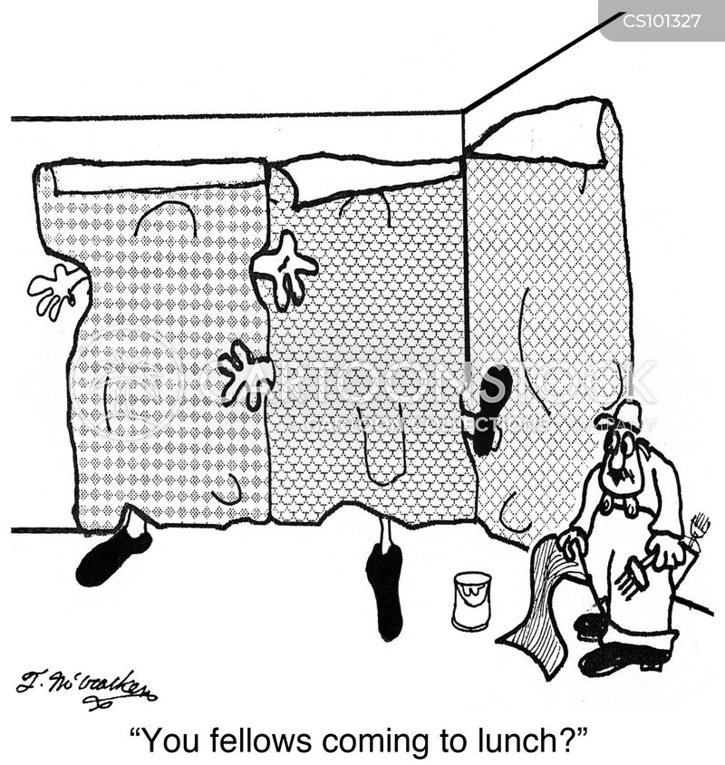Wallpaper Hanger Cartoons and Comics - funny pictures from CartoonStock