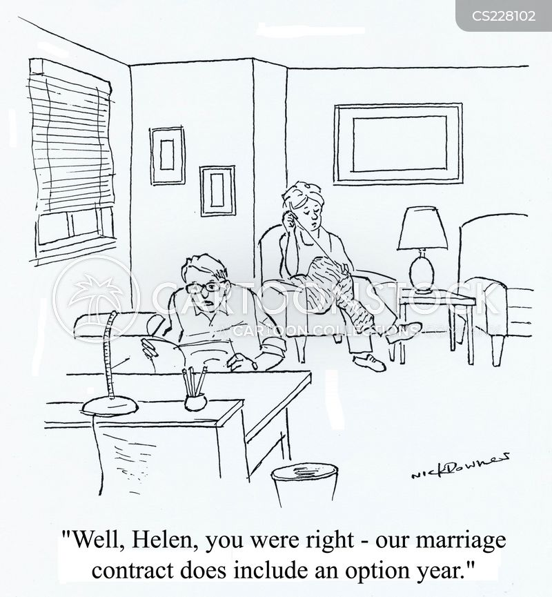 Marriage Contract Cartoons and Comics - funny pictures from CartoonStock - marriage contract