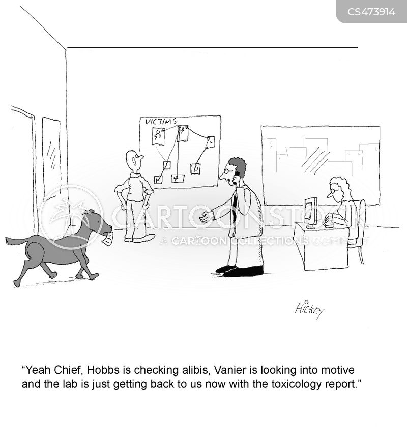 Forensic Report Cartoons and Comics - funny pictures from CartoonStock - forensic report