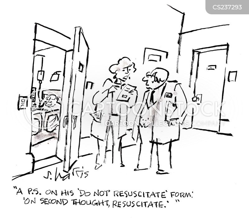 Dnr Forms Cartoons and Comics - funny pictures from CartoonStock - do not resuscitate forms