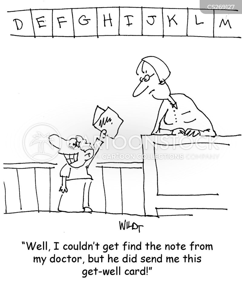 Medical Note Cartoons and Comics - funny pictures from CartoonStock