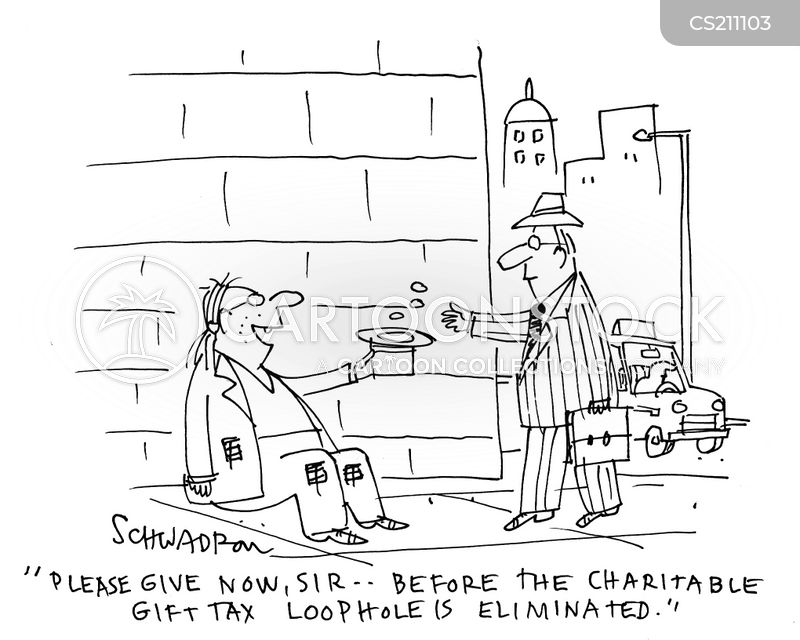 Charitable Gifts Cartoons and Comics - funny pictures from CartoonStock