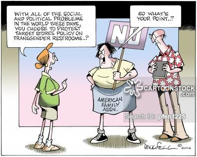 Transgender issues news and political cartoons