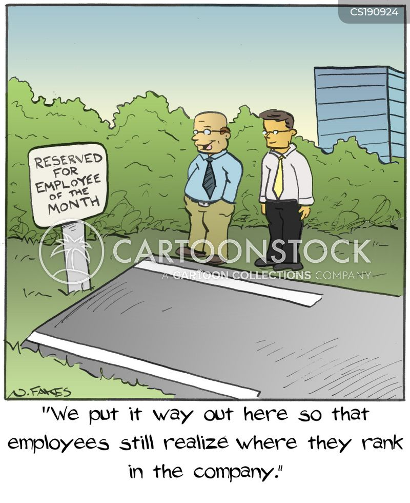 Employee Parking Cartoons and Comics - funny pictures from CartoonStock - employee of the month 2