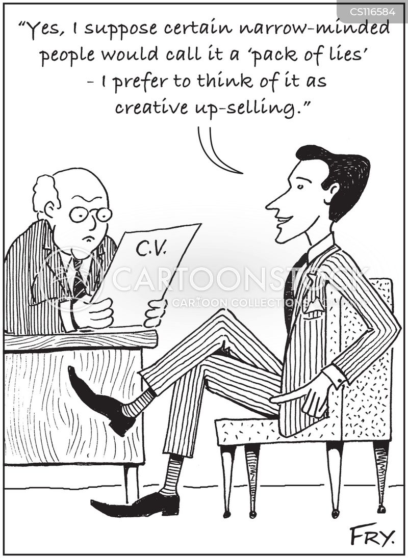 Resume Cartoons and Comics - funny pictures from CartoonStock