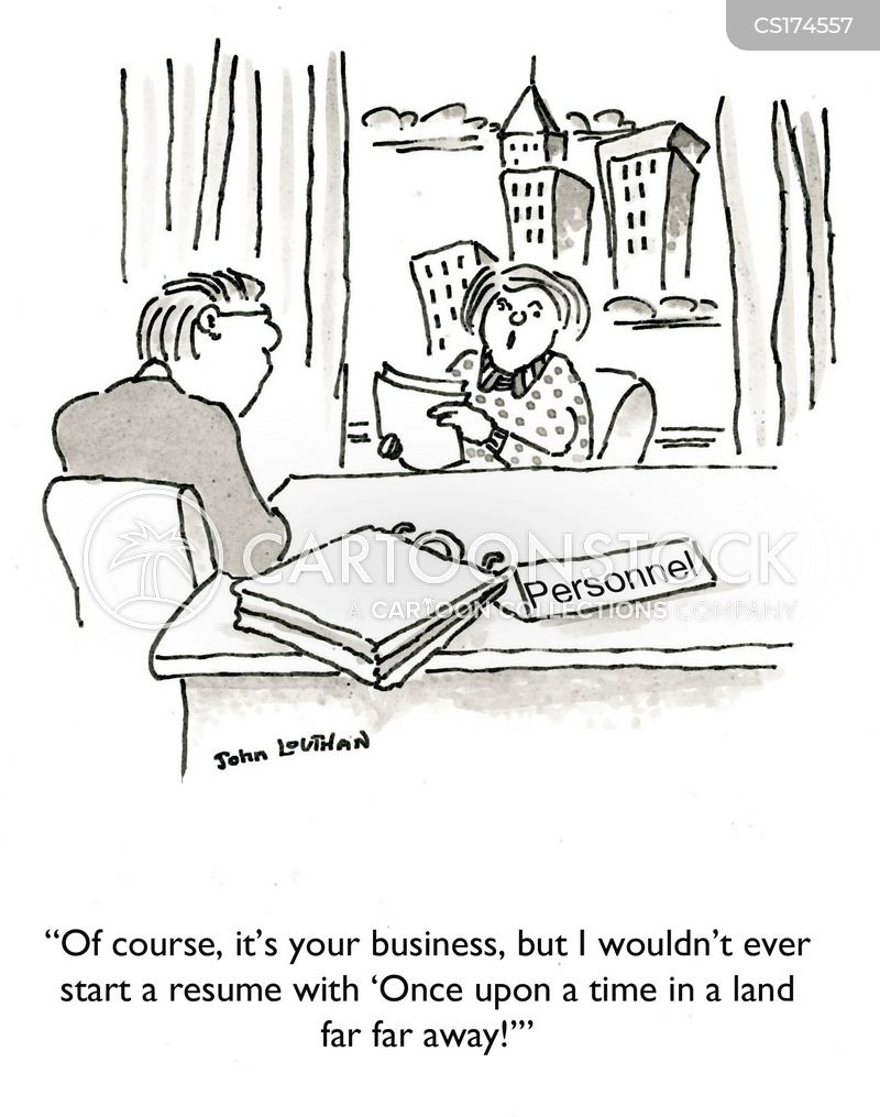Writing A Resume Cartoons and Comics - funny pictures from CartoonStock