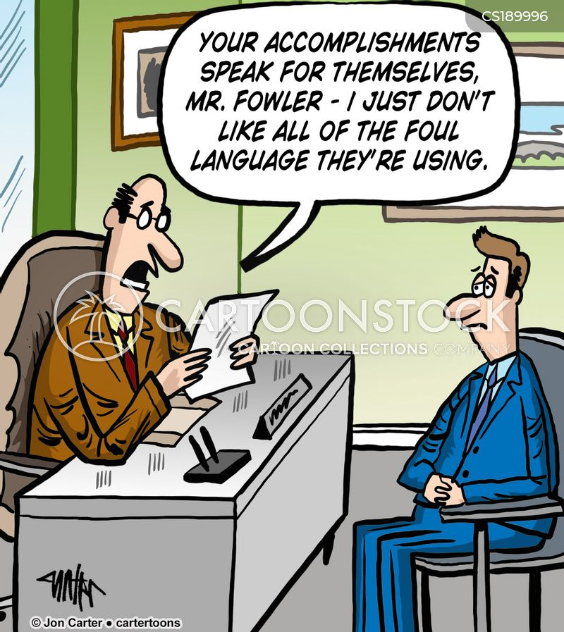 Resume Mistakes Cartoons and Comics - funny pictures from CartoonStock