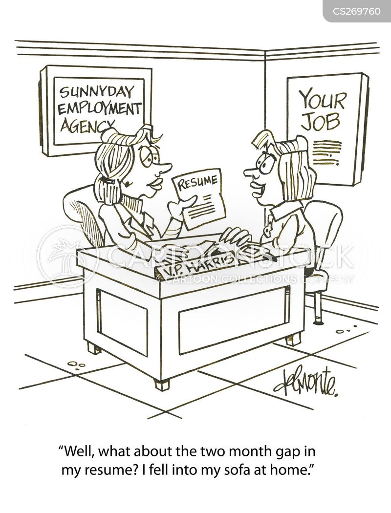 Gap In Resume Cartoons and Comics - funny pictures from CartoonStock - gaps on resumes