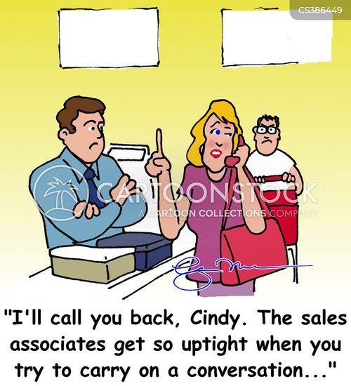 Sales Associate Cartoons and Comics - funny pictures from CartoonStock - sales associate