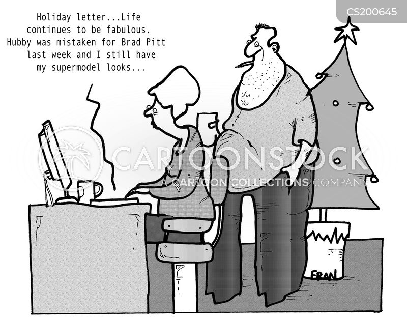 Christmas Letters Cartoons and Comics - funny pictures from CartoonStock