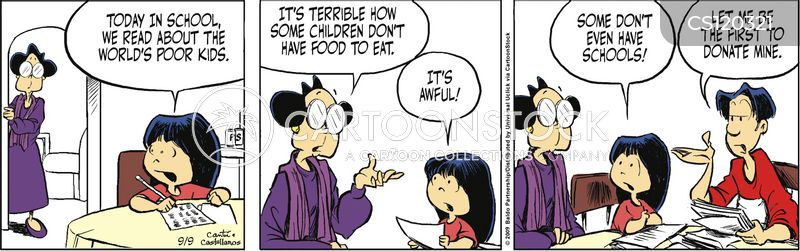 Poor Kids Cartoons and Comics - funny pictures from CartoonStock