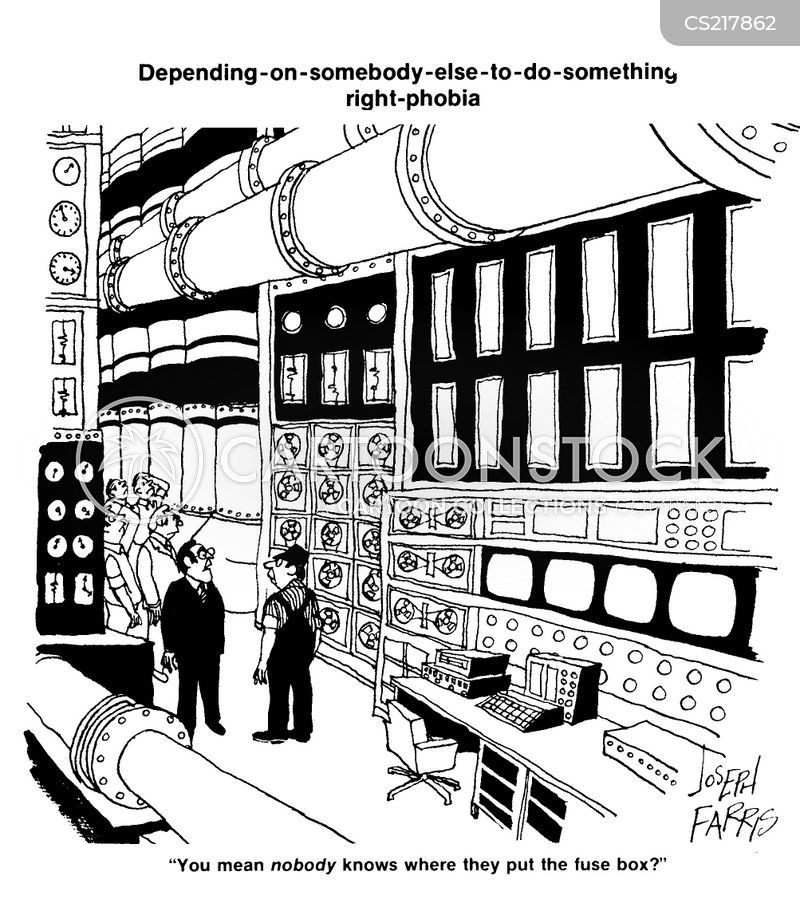 Fuse Boxes Cartoons and Comics - funny pictures from CartoonStock