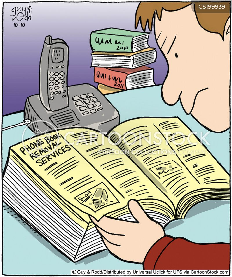 Local Directory Cartoons and Comics - funny pictures from CartoonStock - business phone book