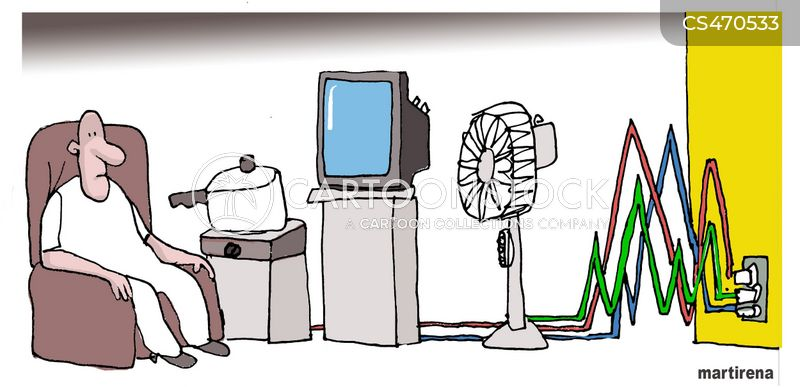 Energy Consumption Cartoons And Comics Funny Pictures