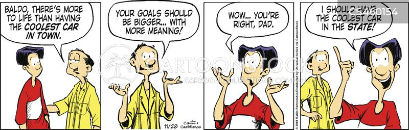Life Goal Cartoons and Comics - funny pictures from CartoonStock