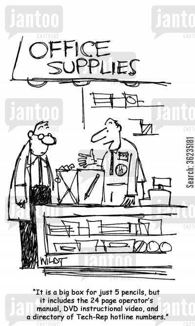 instruction manual cartoons - Humor from Jantoo Cartoons - instructional manual