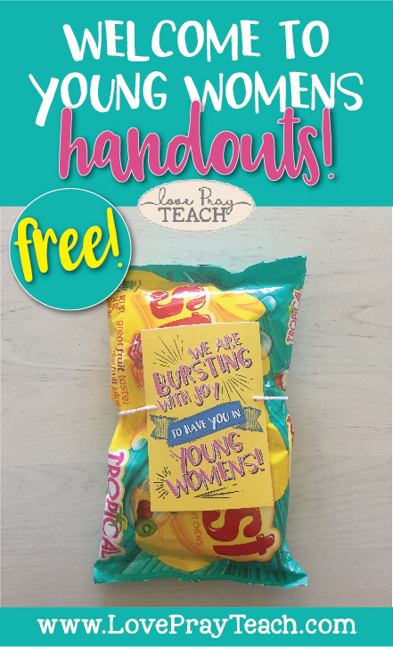 Welcome to Relief Society (or Young Womens)! Free Printable Handouts!