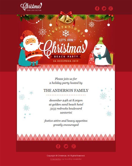 22 Inspirational Christmas HTML Email Templates - template for christmas
