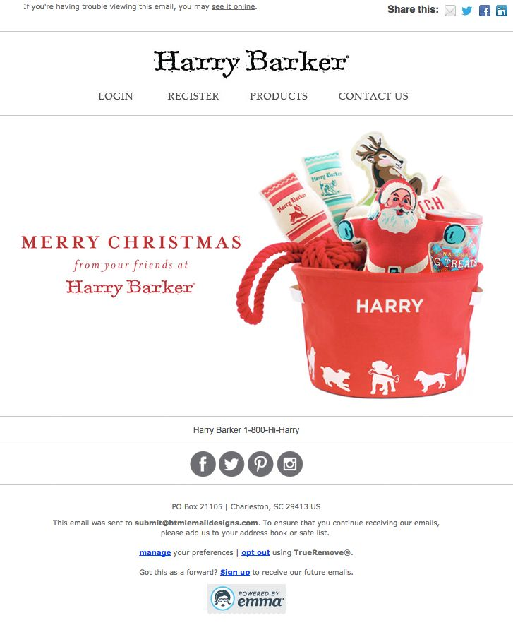 22 Inspirational Christmas HTML Email Templates - merry christmas email banner