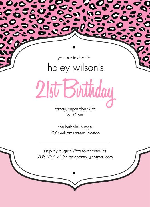 21St Birthday Party Invitations wblqual - birthday invitation letter sample