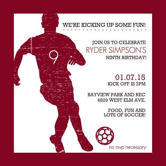 40th Birthday Ideas Soccer Birthday Invitation Templates Free