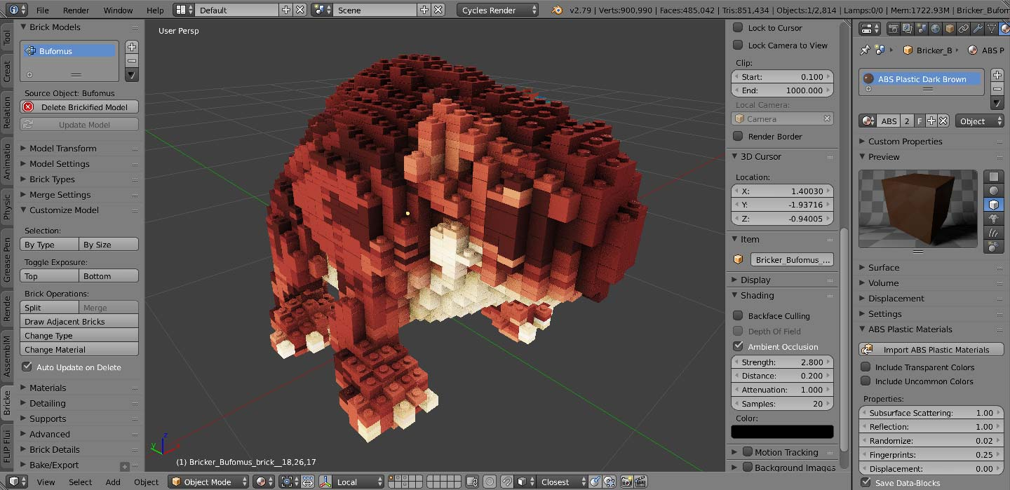 3d Modeling Rendering And Animation Bricker Photoreal Lego Minecraft Simulations