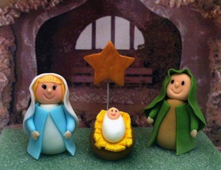 fondant nativity