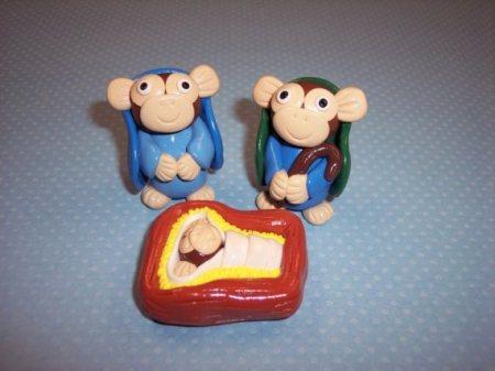 monkey nativity