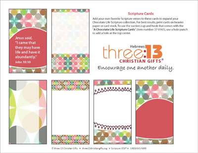 A Chocolate Life Verse Card Template (Downloadable) - card template