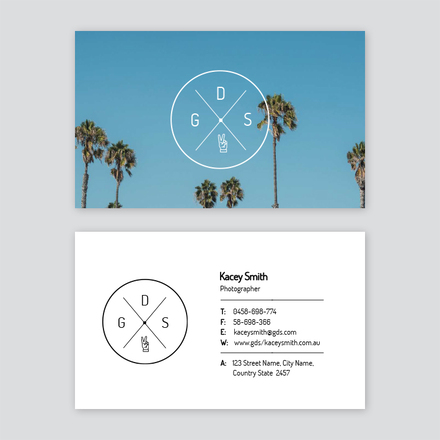Palm Tree Travel Agency / Photographer Business Card