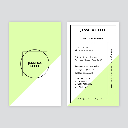 Grid Layout Business Card - Easil