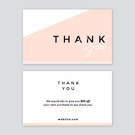 Abstract Thank you Card - Easil