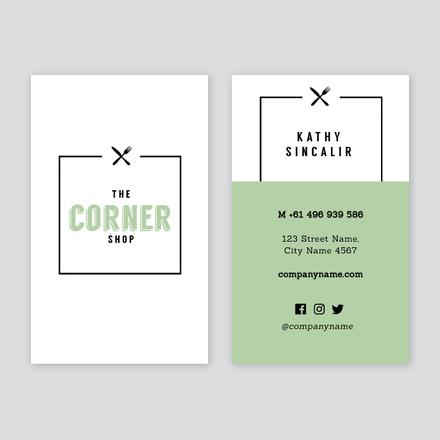 Cafe Business Card - Easil