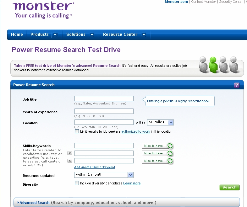 monster resume database - Onwebioinnovate - monster resume search