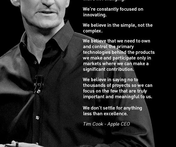Lesson From Apple A Manifesto Beats A Mission Statement