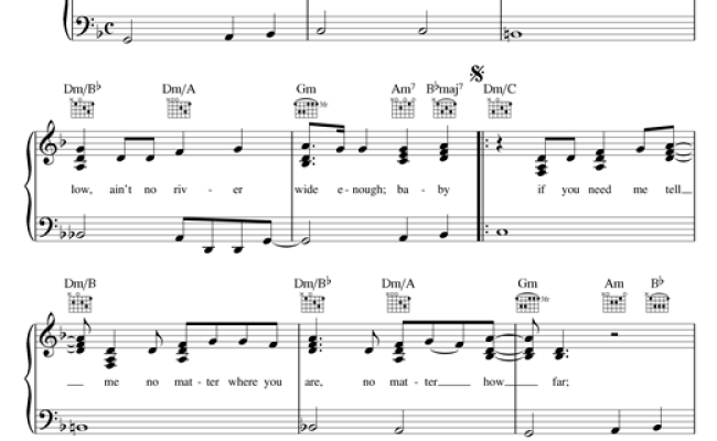 Ain't No Mountain High Enough Sheet Music By Diana Ross (piano, Vocal