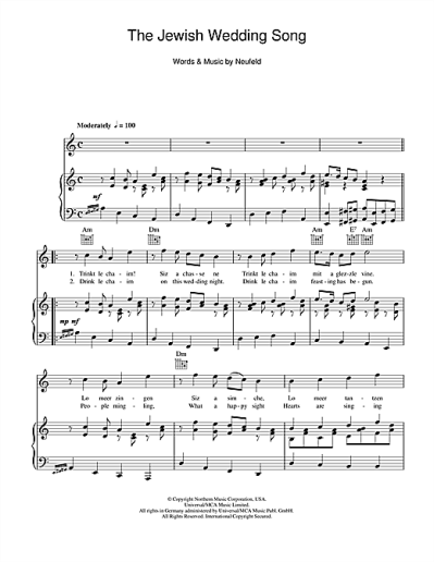 The Jewish Wedding Song partition par Julie Andrews (Piano ...