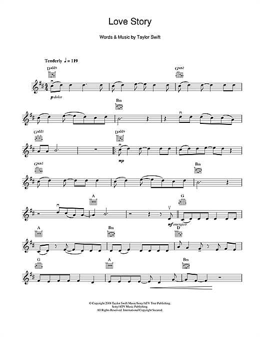 Perfect Love Story Taylor Swift Chords Image Collection Song