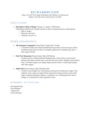 Stand Out With These 15 Modern Design Resume Templates - simple resume layout