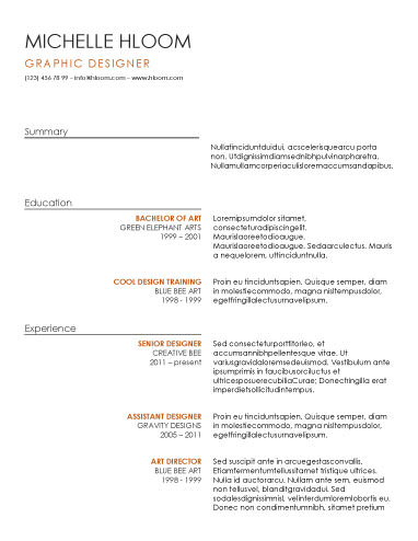 Stand Out With These 15 Modern Design Resume Templates - free resume designs